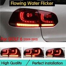 Автомобильный Стайлинг задний фонарь Аксессуары для VW Golf 6 светодиодный задний фонарь 2009-2012 Golf mk6 задний фонарь DRL+ тормоз+ Парк+ светодиодный сигнал