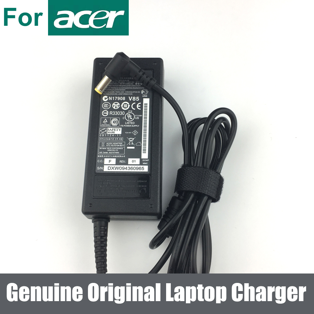 Basix Genuine Original 65W 19V 3.42A Adapter Charger Power Supply FOR Acer Aspire V5 V3 E1 Series