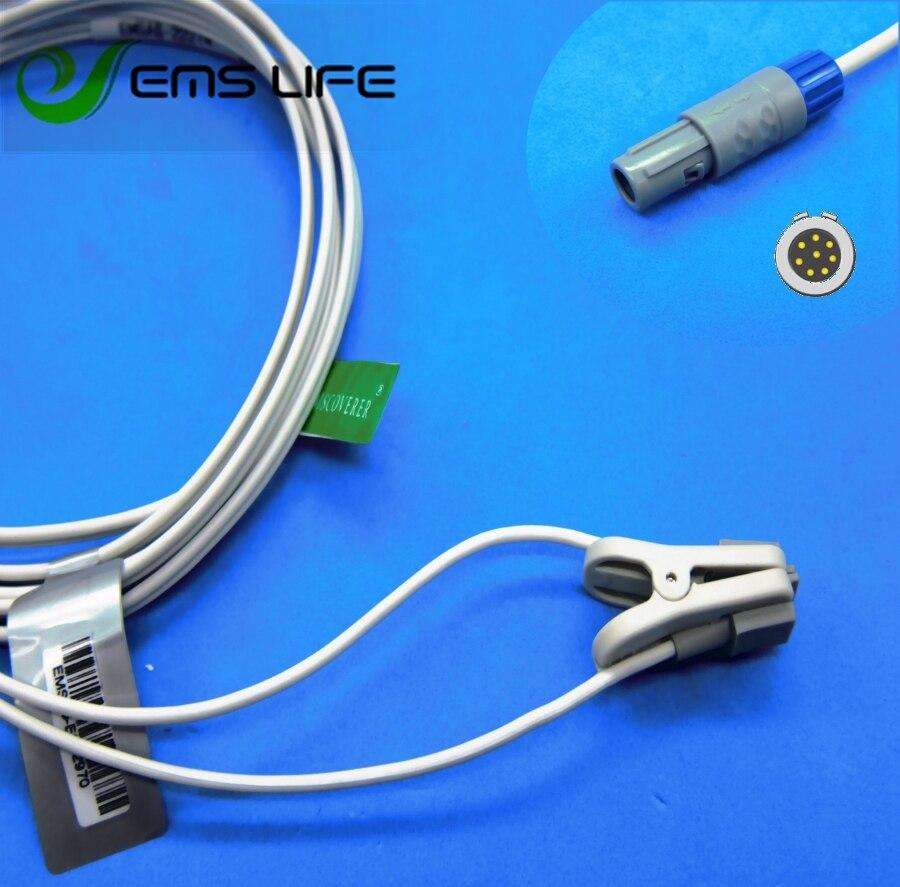 Long cable child or neonate ear clip spo2 sensor for china comen C60 masimo  patient monitorLong cable child or neonate ear clip spo2 sensor for china comen C60 masimo  patient monitor