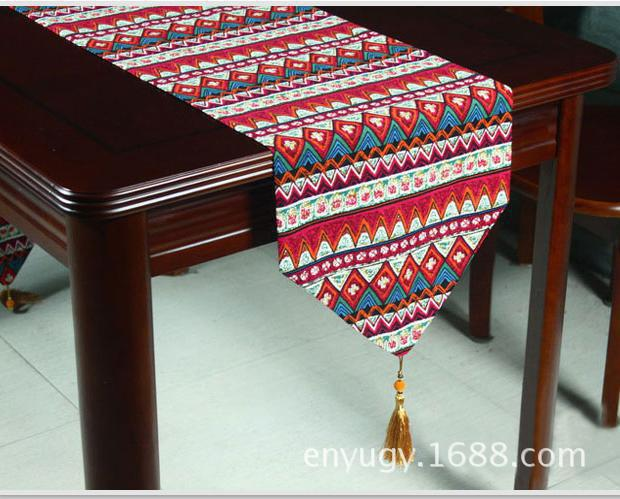 Table Runner Embroidered Simplicity Modern Classical of Type Style Bed Runner Cotton Linen Pastoral on Sale Multicolor
