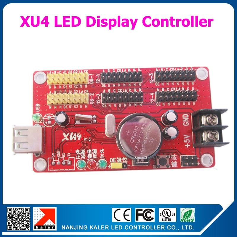Kaler Usb Control Card XU4 Support 1024x64 Pixel Single , Dual,full Color Led Display Screen Running Text P10 Led Controller