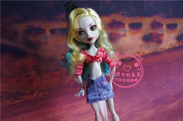 Genuino para monster hight ropa niñas muñeca de Los Niños originales de alta extraño vestido de falda elfos escuela muñeca vestido faldas pantalones