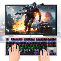 HS 5198 USB Luminous Character Wired Light Game Gaming Keyboard Ergonomically Designed Durable Ultra thin Black