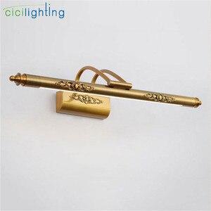 Image 5 - 110V 220V L50cm L70cm L90cm amerikan retro bronz lambası led ayna ışık banyo dolabı vanity makyaj kozmetik aydınlatma armatürleri