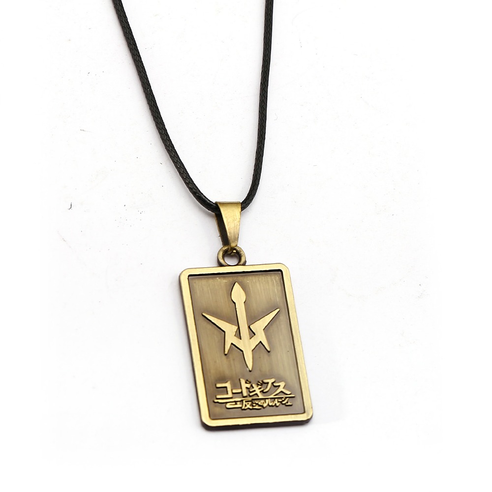 CODE GEASS Lelouch of the Rebellion Necklace Metal Pendant Rope Chain Necklaces Women Men Charm Gifts Japanese Anime Jewelry