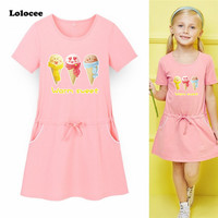 Toddler Baby Girls Ice Cream Dress Sunsuit Children Clothing Summer Costume Short Sleeve Girl Jumpsuit Clothes