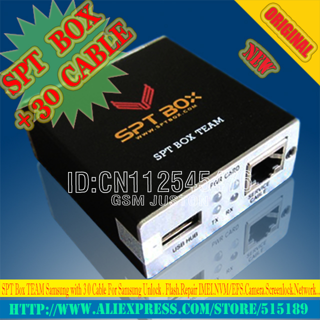 Gsmjustoncct SPT BOX Strumento Professionale forSamsung N7100, I9300, I9100, I9000, I9003 Sbloccare, Flash, Riparazione IMEI, NVM, Macchina Fotografica, Rete - 2