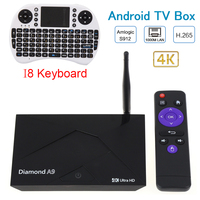 יהלומי S912 UHD 4 K Meida נגן Amlogic A9 אנדרואיד 6.0 חכם הטלוויזיה BOX 2.4 גרם/5 GHz הכפול WiFi Bluetooth 4.0 HDMI 4 K אנדרואיד טלוויזיה תיבת