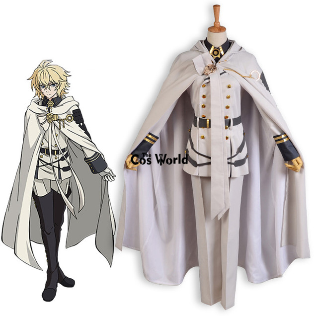 Seraph Of The End Mikaela Hyakuya Military Uniform Cloak