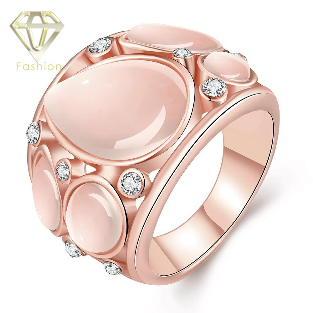 Cheap /Rose Gold Color Wedding Rings Cute Design with Multi Zirconia ...