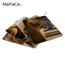 MaiYaCa Fashion Luxury Printing Sleeping Shar Pei Puppy Game Design Gaming PC Anti-slip Laptop Mouse Mat for Optical/Trackball