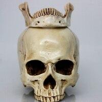 Human Skull Model High Imitation Antique 1 1 Human Skull Model Resin Skeleton Head Halloween Supplies