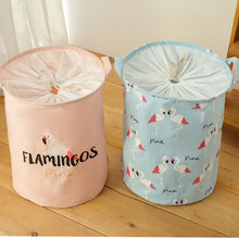 Closing Fabric Cotton and Linen Hamper Storage Bucket Laundry Basket american country style big size american flag foldable sundries storage bucket cotton and linen laundry bucket