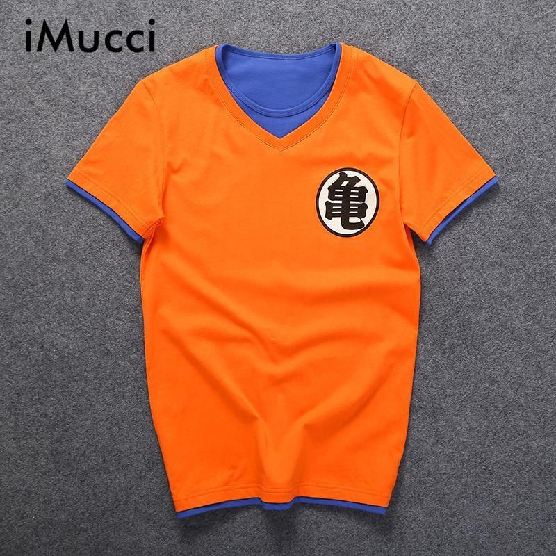 Cloud Style Cotton Dragon Ball T shirt Men's Short Sleeve T-shirt Homme Cosplay T Orange Brand Clothing 2016