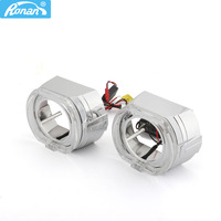 RONAN 2PCS 120MM X 100MM Square Guide Angel Eyes with shrouds Car Styling DRL Halo Ring for 2.5 3.0 bi xeno projector lens