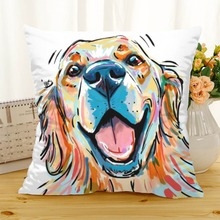 ФОТО meijuner cute dacron cushion cover  color paintings lifelike gog cushion covers decorative pillow cover for sofa home office