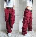 2016 Nuevo de Las Mujeres Pantalones de Algodón de Ocio Trousersr Más Bolsillo Pantalones Hip Hop Pantalones Sueltos