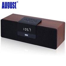 August SE50 30 W Bois Bluetooth BoomBox Haut-Parleur avec FM Radio Sans Fil Stéréo NFC Haut-parleurs Portables avec L'UE/NOUS Plug