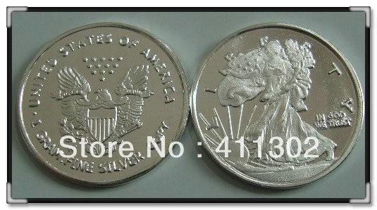 10pcs Lot 999 Pure Solid Silver 1gram Usa Libery Bullion