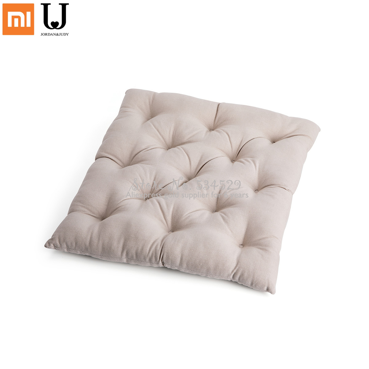 Smart Home XSmart Home XSoft Comfortable Chair Cushions Solid Color Seat Square Floor Tatami Home Office Cotton Canvas