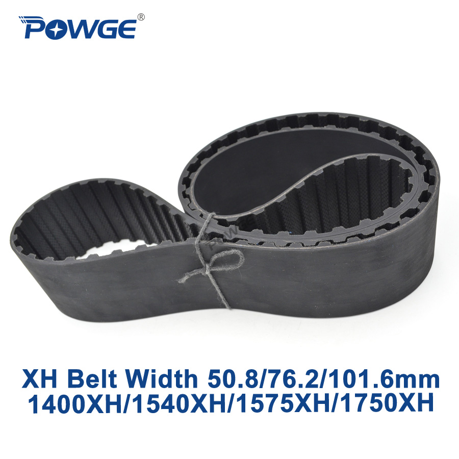 POWGE Inch XH Synchronous belt 1400XH/1540XH/1575XH/1750XH Teeth 160 176 180 200  Width 50.8/76.2/101.6mm Rubber timing BeltPOWGE Inch XH Synchronous belt 1400XH/1540XH/1575XH/1750XH Teeth 160 176 180 200  Width 50.8/76.2/101.6mm Rubber timing Belt