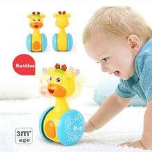 Детские Rammelaars Tumbler Pop Baby Speelgoed Zoete Bel Muziek Roly-poly Leren Onderwijs Speelgoed Geschenken Baby Speelgoed