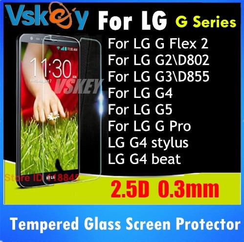 imágenes para 20 unids 2.5D Vidrio Templado Para LG G2 G3 G4 G5 G6 G Pro 2 Stylus Flex 2 G4 G4 Beat Anti-Shatter Protector