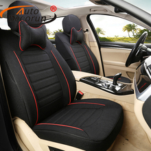 AutoDecorun Customized Flax Cover Seats for Mercedes Benz GLA 200 Accessories Car Seat Covers Set for Cars Seat Cushion Supports