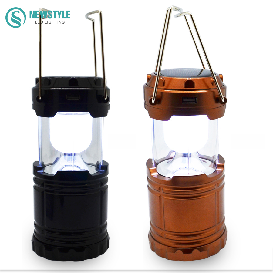 Newest LED solar Light Rechargeable solar Lamp camping light Lantern AC110 250V Tent Lights for Outdoor