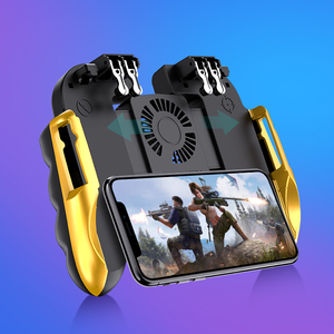 Image 2 - PUBG mobile controller joystick with cooling fan for iphone iOS Android Smartphone gamepad pubg trigger controller fan cooler