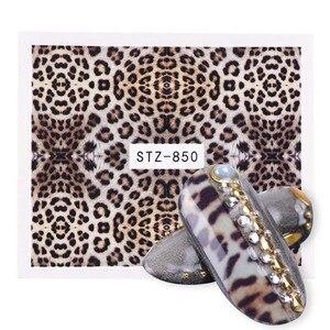 Image 3 - 19pcs Charming Leopard Slider Nail Designs Water Decals Nail Art Sticker Foils Wraps DIY Winter Sexy DIY Eye Manicure Set CH765