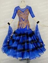 2015 New Style! Ballroom Standard Dance Dress,Waltz Competition Dress,Women,Ballroom Dance Dress,Royal blue