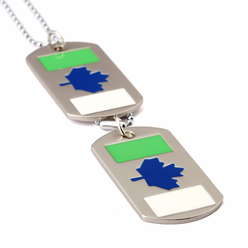 Military Necklace Flag Map Of Haiti Custom Zinc Alloy Pendant Necklace Dog Tags