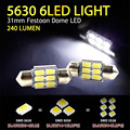 Super Brilhante 2 PCS 31mm 12 V 5630 6 SMD Globo Au Canbus Festoon LED Interior Do Carro Dome Luz lâmpadas