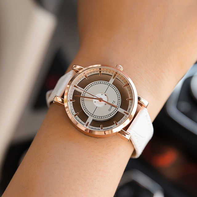 BGG brand Hollow women's Luxury Creative watch womens casual Watches leather lad