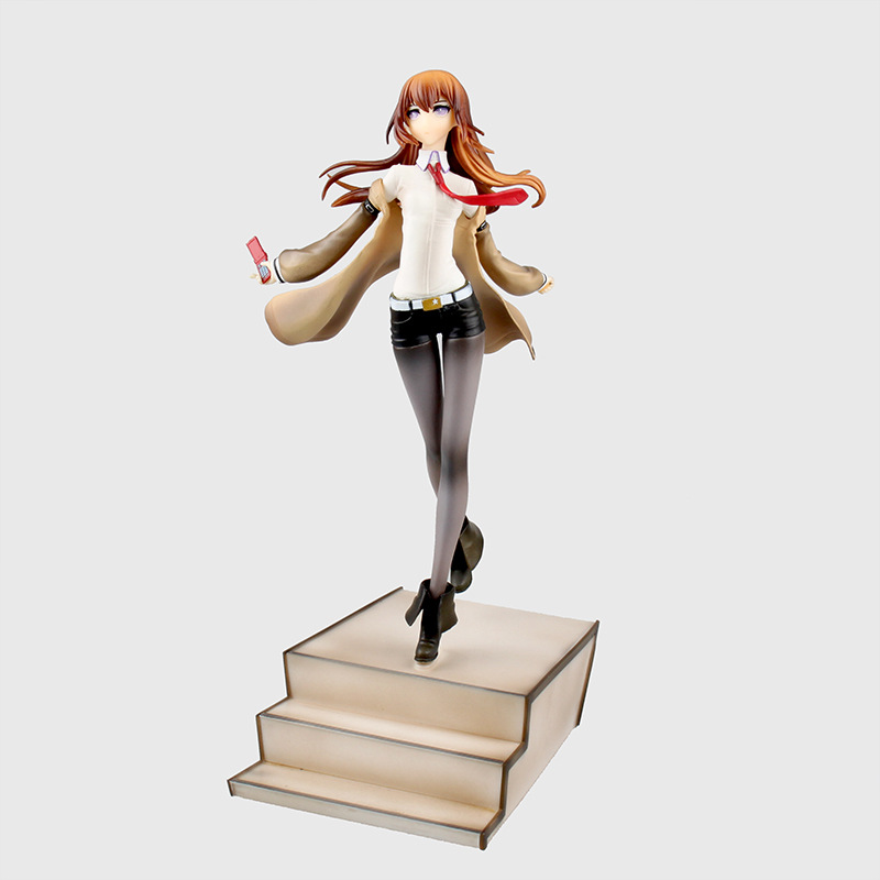 Huong Anime Figure 24 CM Steins Gate Laboratory Member 004 Makise Kurisu 1/8 Scale PVC Action Figure Collectible Model Toy