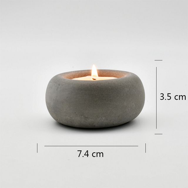 Silicone mold for concrete candle holder 2