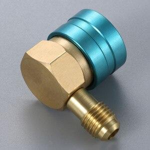 Image 3 - Adaptador de manguera R1234YF a R134A lado bajo R1234yf acoplador rápido 14 mm hembra 1/4 pulgadas SAE macho