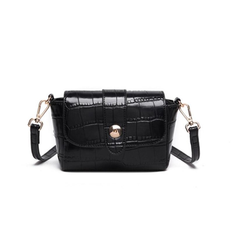 ФОТО PU Leather Women Messenger Bags  Handbags Black Shoulder bolsa feminina