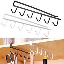 Кухня шкафа стеллаж для хранения шкаф, полка крючок Организатор гардероб одежда Стекло кружка Полка вешалка крючки держатель