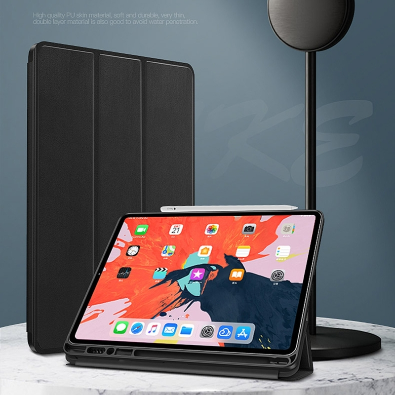 HAWEEL Tablet Cover Case for iPad Pro 12 9 inch Horizontal Flip TPU Leather Case with Holder Sleep Wake up Function in Tablets e Books Case from Computer Office