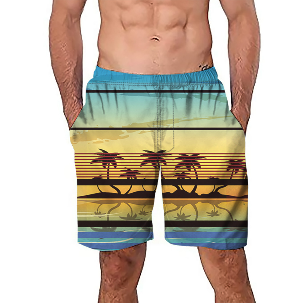 CHAMSGEND   Shorts   Men's   Board     Shorts   Surfing Trunks 3D Graffiti Printed Patchwork Beach   Shorts   Swimwear Male   Short   Pants 1.Feb.12