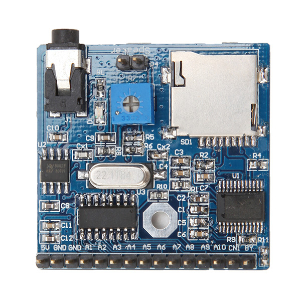 1PC New Arrival Voice Playback Module Board MP3 Reminder For Arduino Board1PC New Arrival Voice Playback Module Board MP3 Reminder For Arduino Board