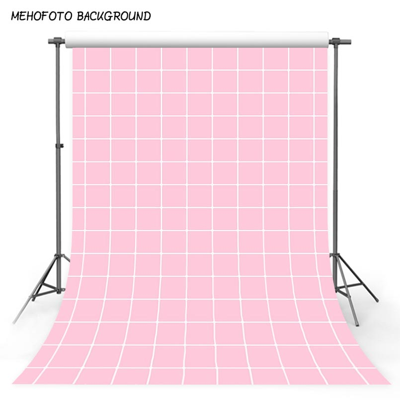 Square Grid Photography Backdrop 10x10 Personalized Pink Backgrounds for Photo Studio Newborn Baby Photographic Backdrops Custom ...