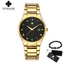 Relogio Masculino WWOOR Men Top Luxury Brand Military Sport Watch Men's Quartz Clock Male Full Steel Casual Business gold watch wwoor brand luxury gold men leisure quartz watch men business date clock male stainless steel sports watches relogio masculino