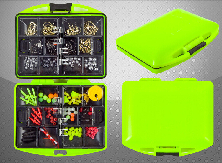 Ocean Rock Fishing Accessories Kit Tackle Tools Box Case Packing Parts Fishhook Space Beans Rolling Rings