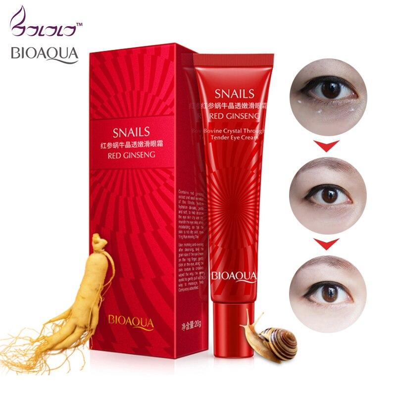 BIOAQUA מותג חילזון מהות עין קרם קרם לחות באופן מיידי חסר גיל לדעוך בסדר קו איפור ג 'ל להסיר כהה מעגל מעלית טיפוח עור