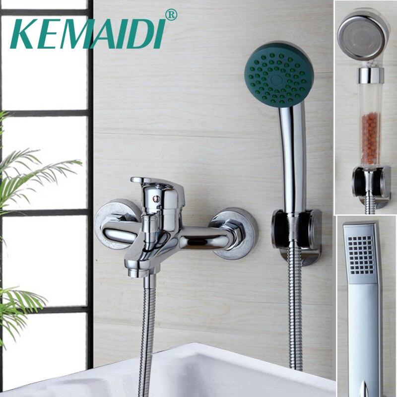 KEMAIDI Ванная комната для душа смеситель для ванны смеситель с ручным Насадки для душа настенный душ ванной кран наборы