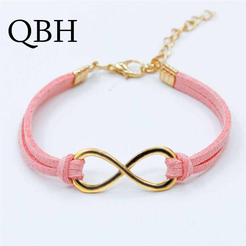 L103 Hot European Cheap Punk Fashion Vintage Infinity 8 Cross Leather Bracelets For Women Gift Bangles Men Jewelry pulseras