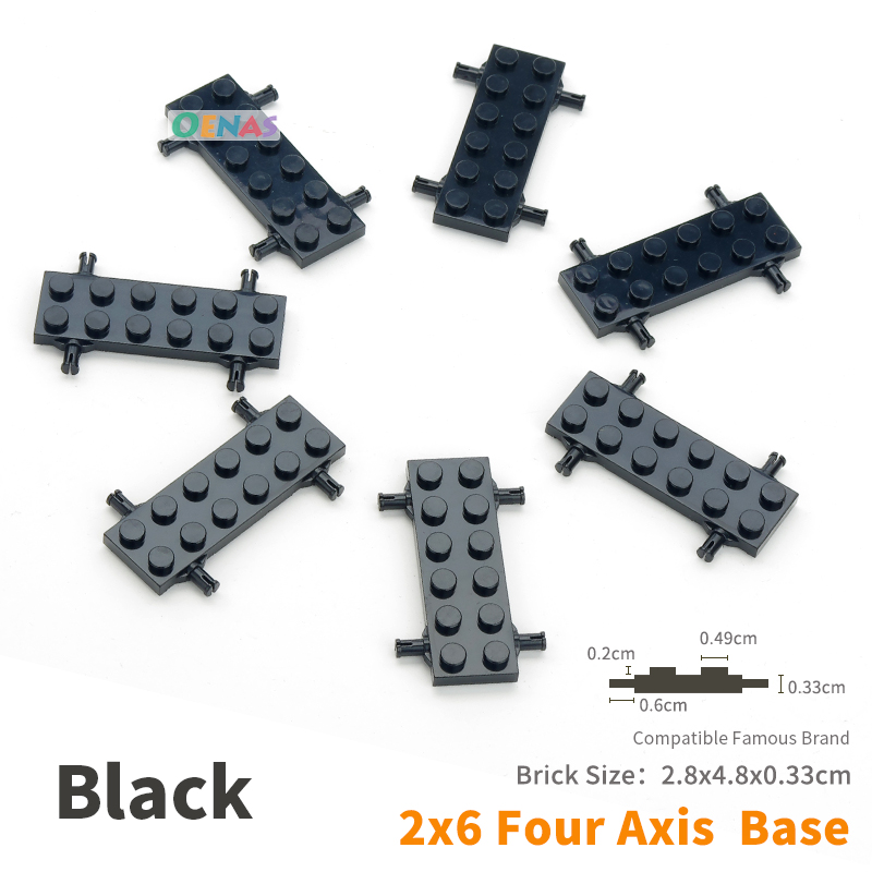 Moc Plate Special 2 X 6 With 4 Wheel Holders Building Blocks Bricks Parts Diy Kids Toys Fit Legoing 50pcs/set Toys & Hobbies Sale!